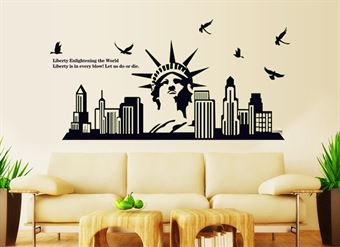 Image of   Wall Stickers - Frihedsgudinden, New York
