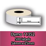 DYMO labels 11352 - Fra 39 kr (25mm x 54mm) 500 stk. labels