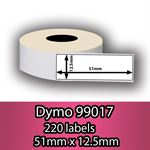DYMO labels 99017 - Fra 39 kr (51mm x 12.5mm) 220 stk. labels