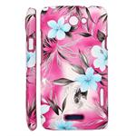 Blomster Cover HTC ONE X (Pink)