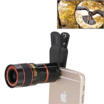 Image of   8X Optisk zoom Teleskop Kamera Linse til Smartphone