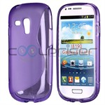 S-Line Silicone Cover Galaxy S3 Mini (lilla)