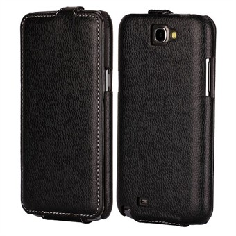 Image of   Flip læder etui til Note 2 (Sort)