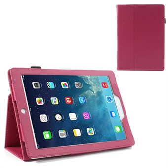 Image of   Deluxe læder etui til iPad Air (Magenta)