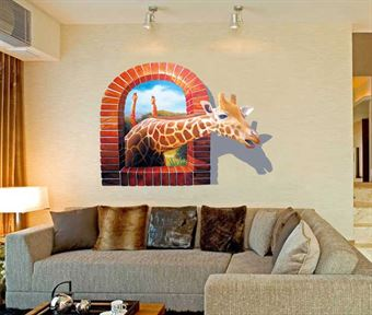 Image of   Wall Stickers - Giraf 3D