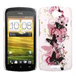 HTC ONE S Sommerfugle Cover (Striben)