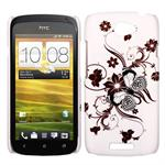 HTC ONE S Sommerfugle Cover (Brun)