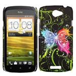HTC ONE S Sommerfugle Cover (Neon)