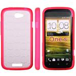 Transparent plastik cover til One S (Pink)