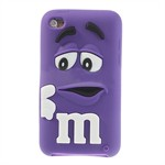 M&M iPod Touch 4 Silikone Cover (Lilla)