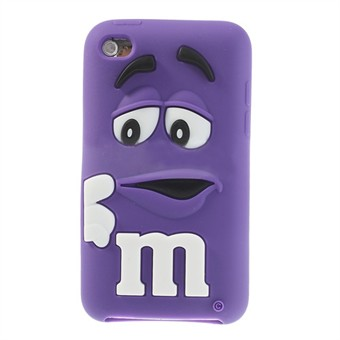 Image of   M&M iPod Touch 4 Silikone Cover (Lilla)