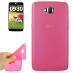 S-Line Silikone Cover LG G Pro Lite Duos (Pink)