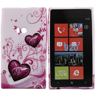 Image of   Motiv Silikone Cover til Lumia 920 (Double Heart)