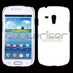 Simpel Plastik Cover Galaxy S3 Mini (Hvid)