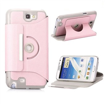 Image of   360° Roterende Galaxy Note 2 Etui (Pink)