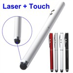 Multifunktions Laser-Touch Pen-LED (Sølv)