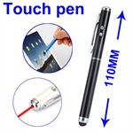 Stylus 2in1 Laser Touch Pen (Sort)