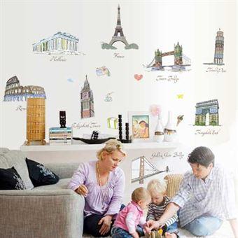 Image of   Wall Stickers - Verdens seværdigheder