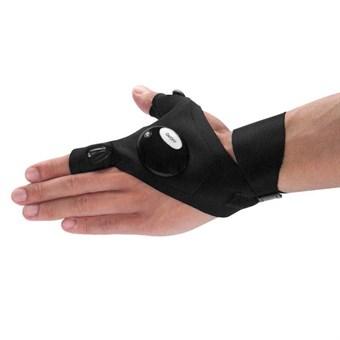 Image of   Handske med lys /Finger glove light - til venstrehånd