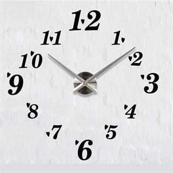 Image of   Moderne 120x120 cm væg ur i art nuvo stil sort