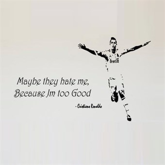 Image of   Wall stickers - Hate/Good Ronaldo