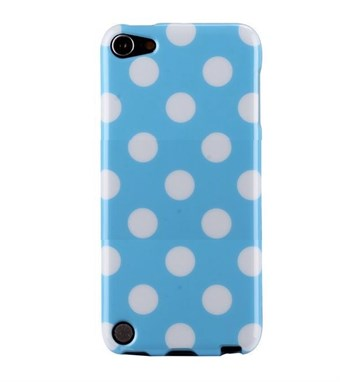 Image of   iPod Touch 5/6 Cover Dots (baby-blå, hvid)