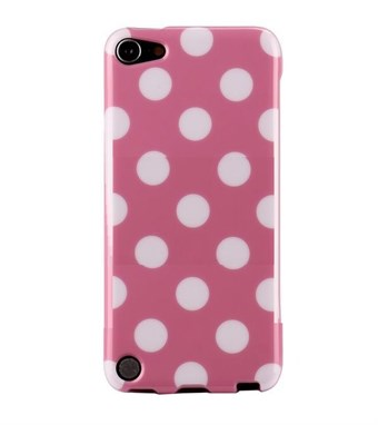 Image of   iPod Touch 5/6 Cover Dots (baby-lyserød, hvid)