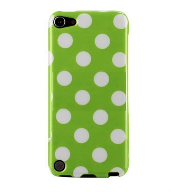 Image of   iPod Touch 5/6 Cover Dots (grøn, hvid)