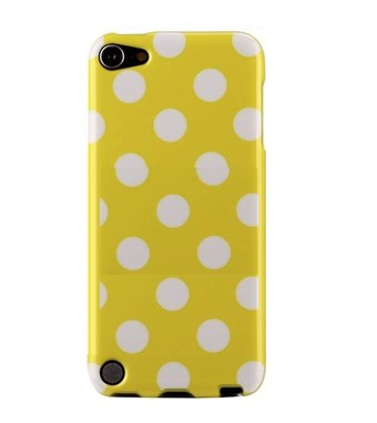 Image of   iPod Touch 5/6 Cover Dots (gul, hvid)