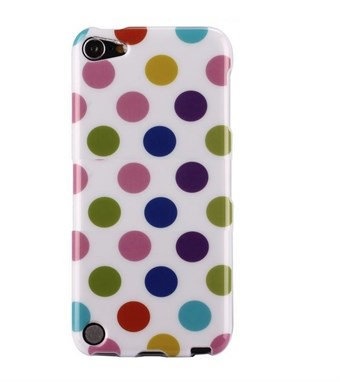 Image of   iPod Touch 5/6 Cover Dots (hvid, multicolor)