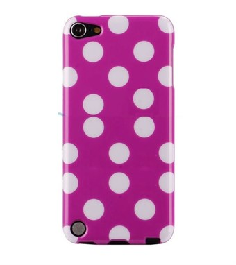 Image of   iPod Touch 5/6 Cover Dots (lilla, hvid)
