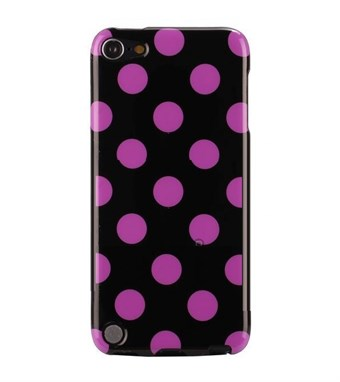 Image of   iPod Touch 5/6 Cover Dots (lilla, sort)