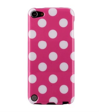 Image of   iPod Touch 5/6 Cover Dots (lyserød, hvid)