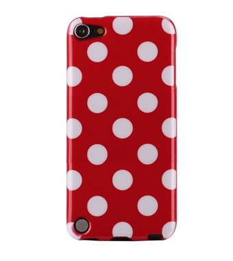 Image of   iPod Touch 5/6 Cover Dots (rød, hvid)