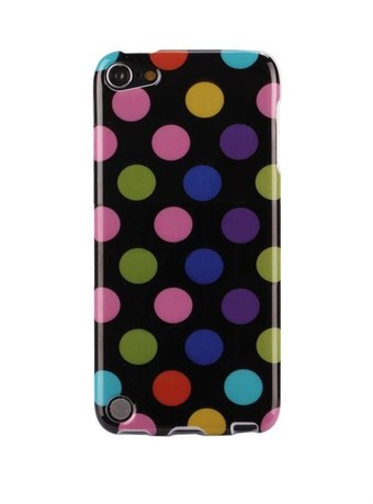 Image of   iPod Touch 5/6 Cover Dots (sort, multicolor)