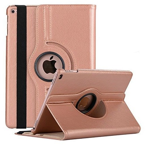 Danmarks Billigste 360 Roterende Cover til iPad 2 / iPad 3 / iPad 4 - (Guld Rosa)