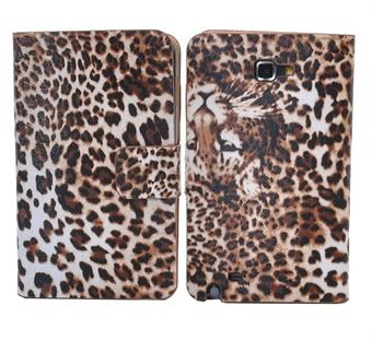 Image of   Samsung Note Leopard Etui (Coffe)