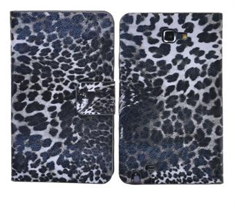 Image of   Samsung Note Leopard Etui (Sort)