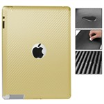 Carbon Sticker iPad 2/3/4 - Guld