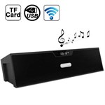 Sardine Bluetooth stereo sound speaker m. FM, SD og USB - Sort