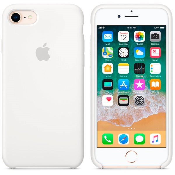 iPhone 7   iPhone 8 silikone cover - Hvid 12d44647cd13f
