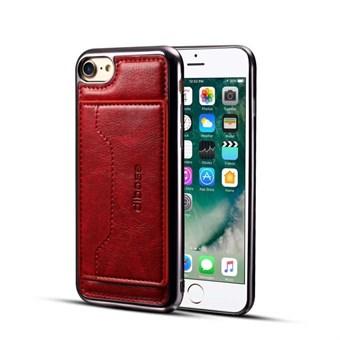 Image of   High Trend Cover i PU læder og TPU plast m/ Kortholder til iPhone 7/ iPhone 8 - Rød