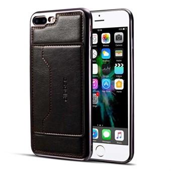 Image of   High Trend Cover i PU læder og TPU plast m/ Kortholder til iPhone 7 Plus / iPhone 8 Plus - Sort