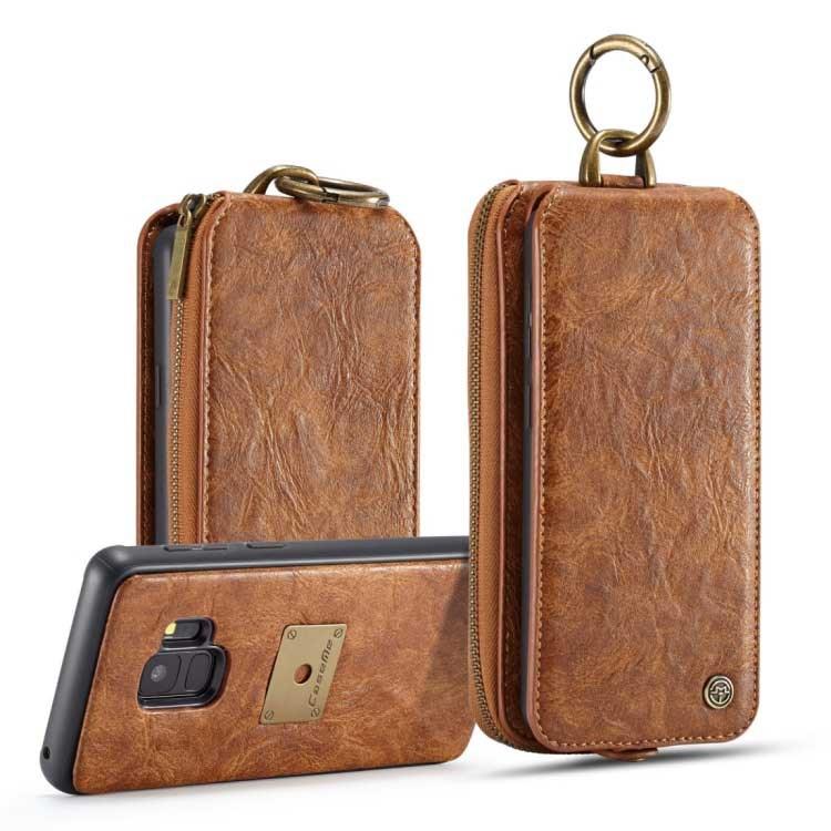 a8981eb98cd CaseMe Premium læder Pung m/ magnetisk Cover til Samsung Galaxy S9 - Brun