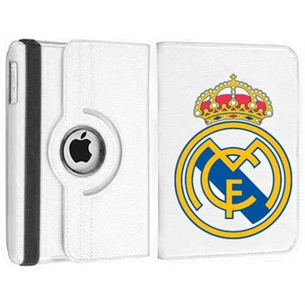 Image of   Roterende Fodbold Etui til iPad Air - Real Madrid