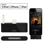 Audio Adapter 8 Pin til 30 Pin iPhone 5/5S/5C - Sort