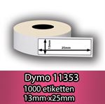 DYMO labels 11353 - Fra 39 kr (25mm x 13mm) 500 stk. labels