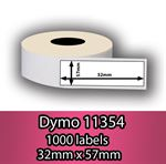 DYMO labels 11354 - Fra 59 kr (32mm x 57mm) 1000 stk. labels