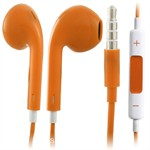 Earpod høretelefoner m. mic + Volumenkontrol (Orange)