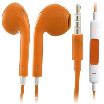 Image of   Earpod høretelefoner m. mic + Volumenkontrol (Orange)